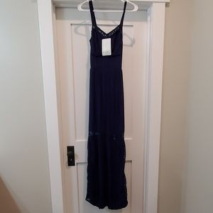 Beautiful Love Fire long navy dress, xs, with tags